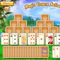 Флэш игра Magic Towers Solitaire, играть онлайн